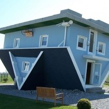 Walking in an upside down house