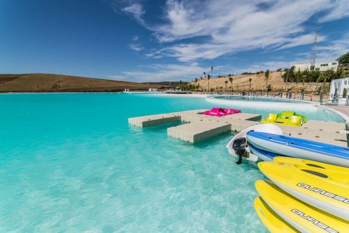 Turquoise lagune in Marbella omgeving