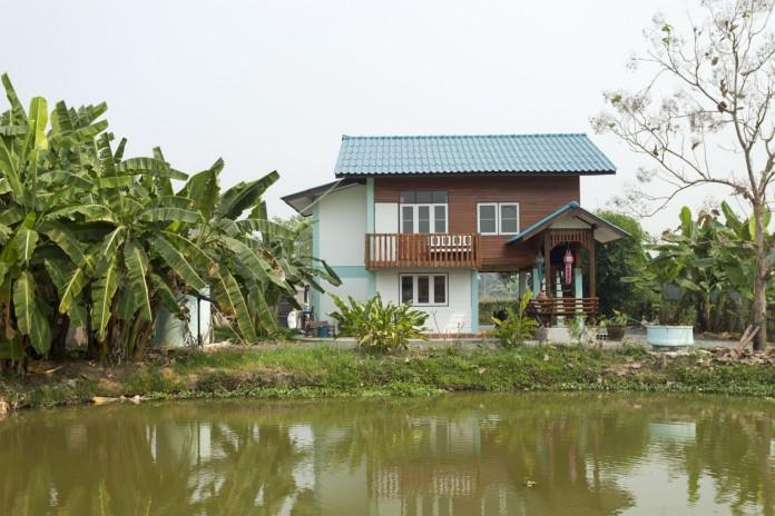 Traditioneel Teakwood huis nabij Chiangmai