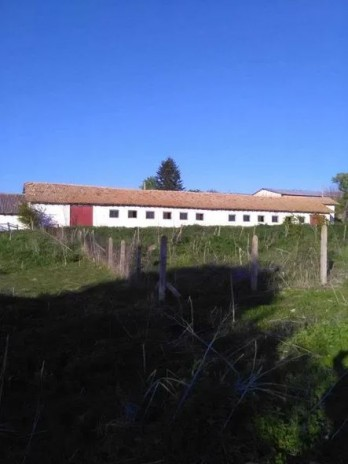 Boerderij met 2 grote gebouwen en veel land