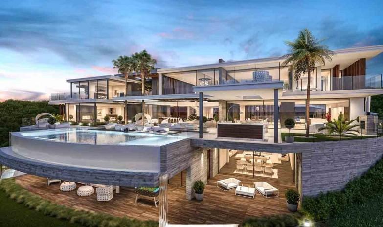 Villa 2200 m2 constructed .