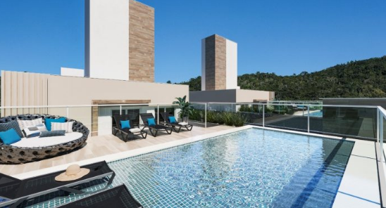 300mt Sea Ingleses Beach-FLORIANOPOLIS-BRAZIL-Financing Ap 1Dorm AUTOMATED