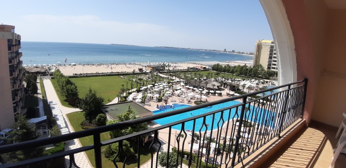 Beachfront sea view 2-bedroom apartment for sale in 4**** Majestic on the beach Sunny beach Bulgaria