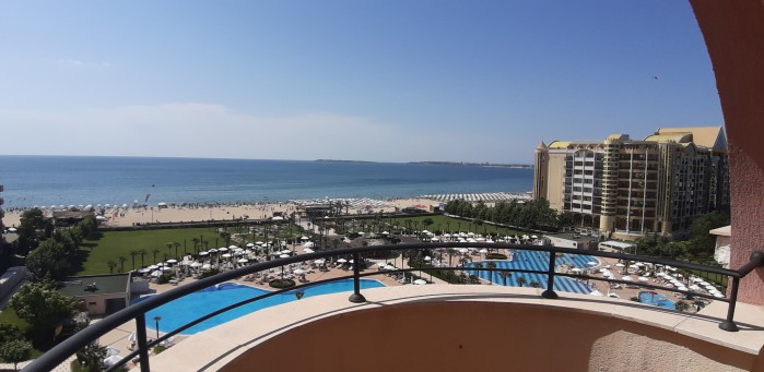 Beachfront sea view 1-bedroom apartment for sale in 4**** Majestic on the beach Sunny beach Bulgaria