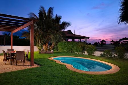 Kaapverdie Villa met zwembad aan het strand te koop